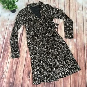 A Pea in the Pod Animal Print Wrap Dress